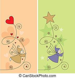 carte, salutation, elfes