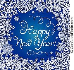 carte, salutation, nouvelles années