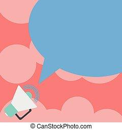 carte, son, disposition, affaires colorent, affiche, invitation, salutation, volume, vecteur, parole, bon, gabarit, vide, promotion, porte voix, bulle, vide, icône