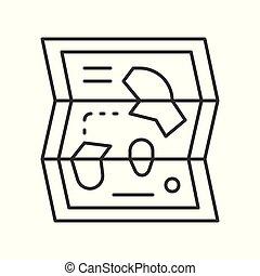 carte, style, parc, apparenté, vecteur, icône, ligne, amusement