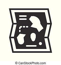 carte, style, solide, parc, apparenté, vecteur, icône, amusement