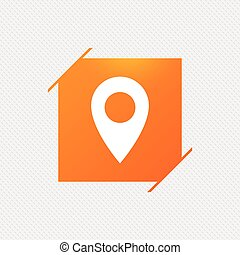 carte, symbole., emplacement, icon., indicateur, gps