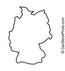 Carte Allemagne Facile.Carte Symbole Vecteur Allemagne Icone Carte Silhouette