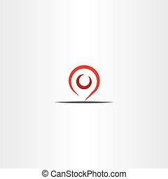 carte, symbole, vecteur, emplacement, marqueur, indicateur, icône