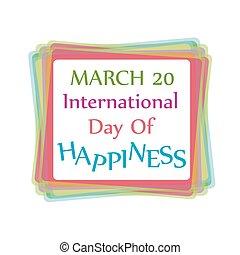 carte, toile, jour, bonheur