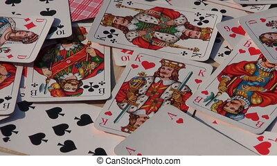 carte, tourner, jouer, fond