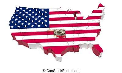 carte, uni, oklahoma., states., politique, état, 56.
