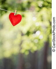 carte, vacances, jour, valentine, salutation
