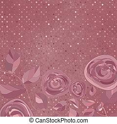 carte, valentine, eps, day., 8, fleurs