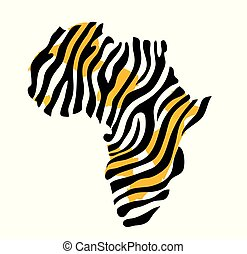 carte, vecteur, afrique, illustration