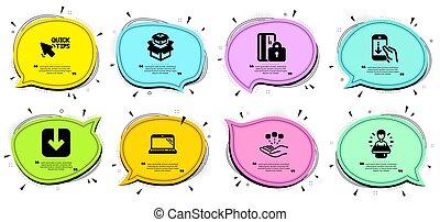 carte, vecteur, consolidation, bas, ambassadeur, set., signs...