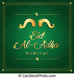 carte, vecteur, eid-al-adha, sacrifice, mubarak, islamique, ...