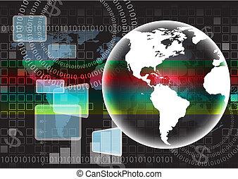 carte, vecteur, fond, mondiale