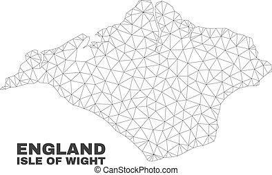 carte, vecteur, polygonal, wight, maille, île
