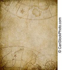 carte, vieux, fond, copyspace