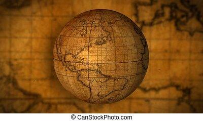 carte, vieux monde