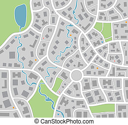 carte, ville