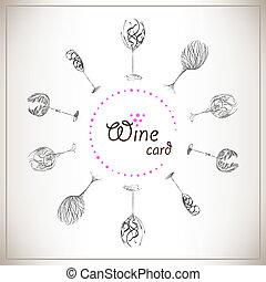 carte, vin