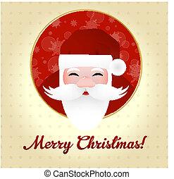 carte voeux, claus, santa