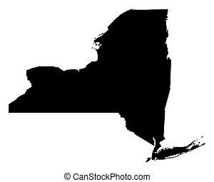 carte, york, nouveau