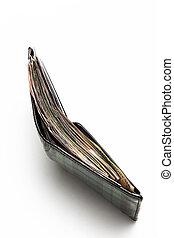 carteira, cheio, de, indonésio, rupiah, dinheiro