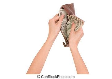 carteira, dinheiro