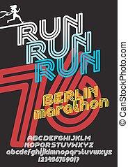 cartel, berlín, corra, maratón
