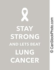 cartel, cancer pulmonar