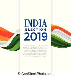 cartel, concepto, india, elección