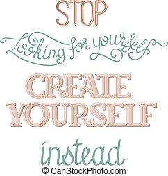 cartel, crear, usted mismo