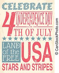 cartel, día, independencia