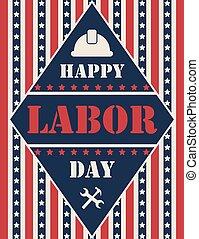 cartel, diseño, día, estados unidos de américa, trabajo