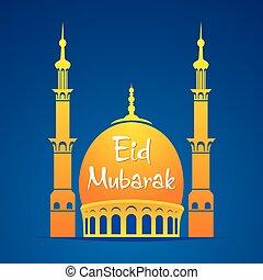 cartel, diseño, eid, mubarak
