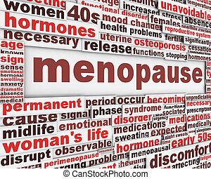 cartel, diseño, menopausia