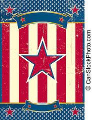 cartel, estrella, nosotros, rojo