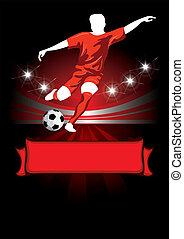 cartel, fútbol