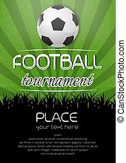 cartel, fútbol, torneo