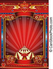 cartel, fantástico, circo
