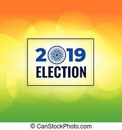 cartel, general, 2019, elección, plano de fondo, diseño