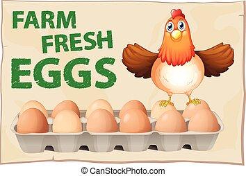 cartel, huevos