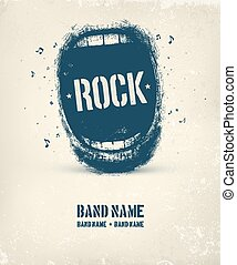 cartel, música, roca