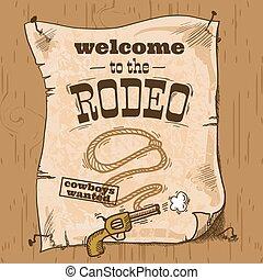 cartel, rodeo, retro