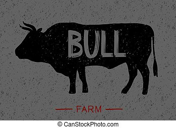 cartel, sobre, toro