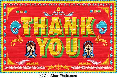 cartel, usted, agradecer
