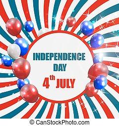cartel, vector, día, ilustración, independencia