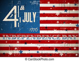 cartel, vector, día, independencia