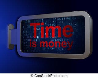 cartelera, dinero, concept:, plano de fondo, tiempo