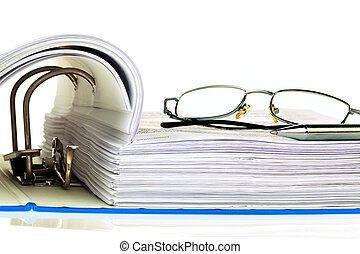 cartella di file, con, documenti, e, documenti