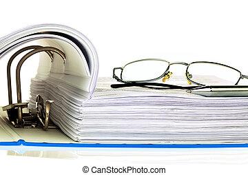 cartella, documenti, file