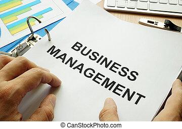 cartella, documenti, management., affari, titolo